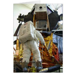 Tarjeta del aniversario del espacio