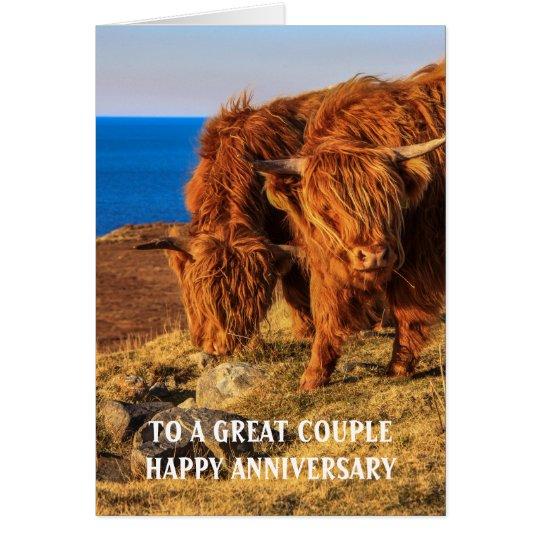 Tarjeta del aniversario del ganado de la montaña