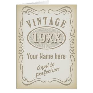 Tarjeta del aniversario del vintage (editable)