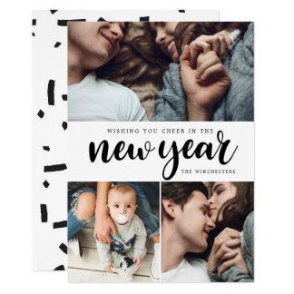Tarjeta del Año Nuevo del collage de la foto de la
