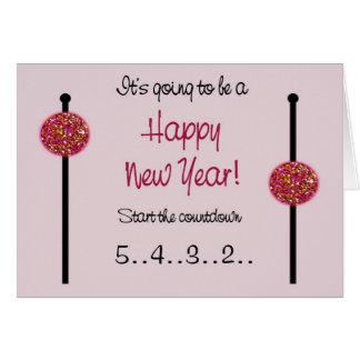 Tarjeta del Año Nuevo/invitación del embarazo