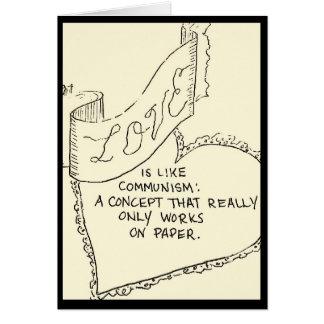 tarjeta del Anti-amor