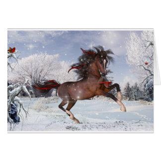 Tarjeta del árabe del caballo del navidad
