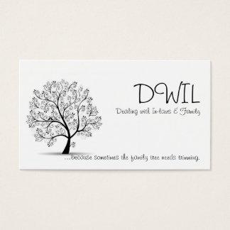 Tarjeta del árbol de familia DWIL