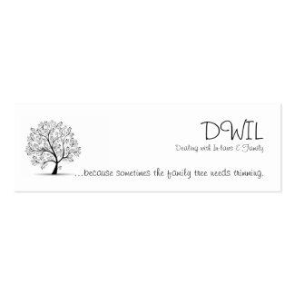 Tarjeta del árbol de familia DWIL - pequeña Tarjetas De Visita Mini