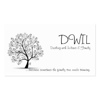 Tarjeta del árbol de familia DWIL Tarjetas De Visita