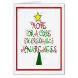 Tarjeta del árbol de navidad de Ehlers-Danlos