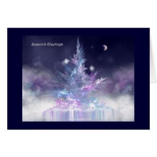Tarjeta del árbol del invierno
