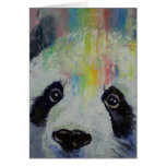 Tarjeta del arco iris de la panda