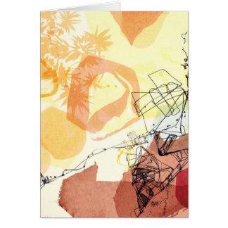 Tarjeta del arte abstracto de la cifra