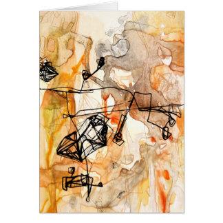 Tarjeta del arte abstracto de la información I