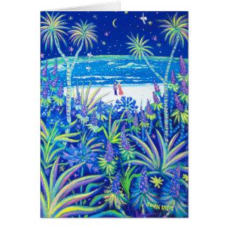 Tarjeta del arte: Amor del jardín de la cabaña de