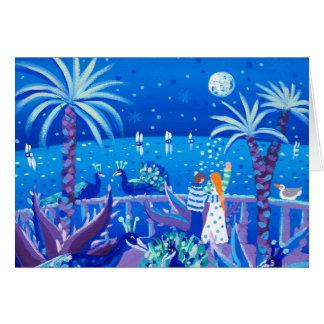 Tarjeta del arte: Amor del pavo real del zafiro,