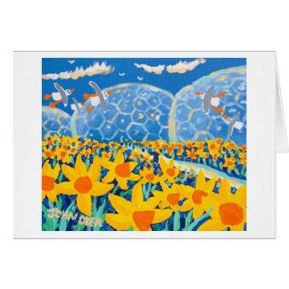 Tarjeta del arte: Azul del narciso, proyecto de