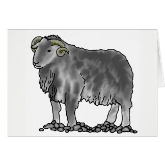 Tarjeta del arte de las ovejas de Herdwick del