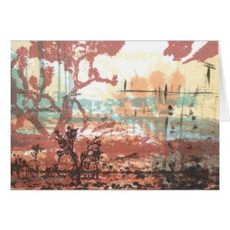 Tarjeta del arte de las yucas del desierto de