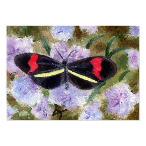 Tarjeta del arte del aceo de la mariposa tarjetas personales