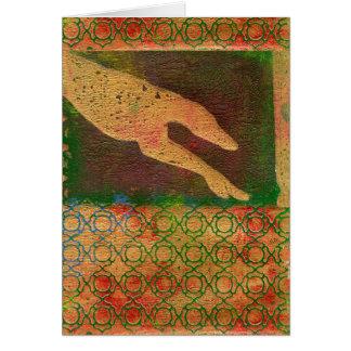 Tarjeta del arte del galgo (g413)