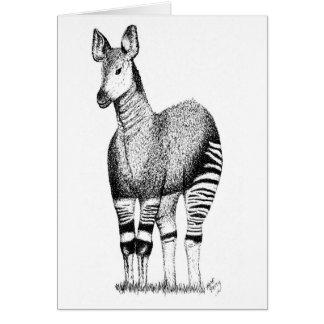Tarjeta del arte del Okapi