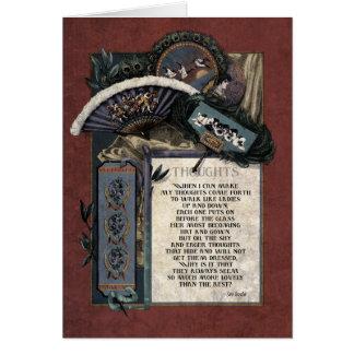 Tarjeta del arte del Victorian de los