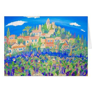 Tarjeta del arte: La cosecha de la uva, Rasteau,