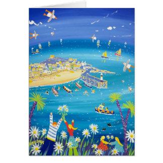 Tarjeta del arte: Margaritas que agitan, St Ives