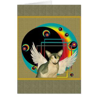 Tarjeta del arte moderno del ángel de la tarjeta