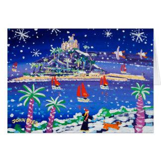 Tarjeta del arte: Navegación a través de la nieve