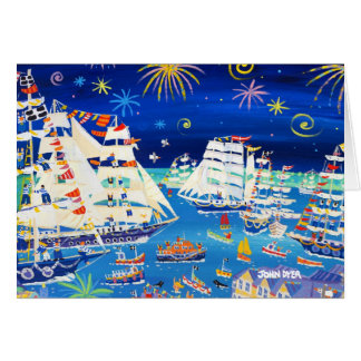 Tarjeta del arte: Naves altas y pequeñas naves