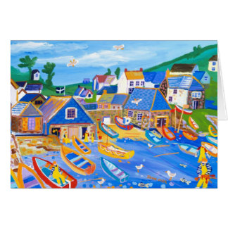 Tarjeta del arte: Pescadores de langosta,