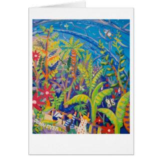 Tarjeta del arte: Selva tropical. Proyecto de Eden