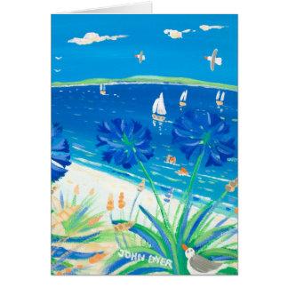 Tarjeta del arte: Tener una inmersión, bahía de