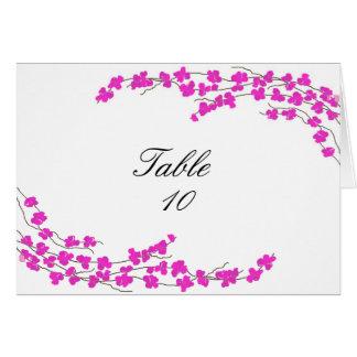 Tarjeta del asiento de la tabla de los flores - ma