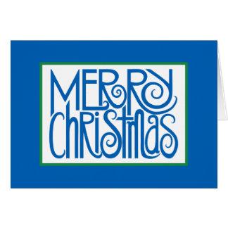 Tarjeta del azul de las Felices Navidad