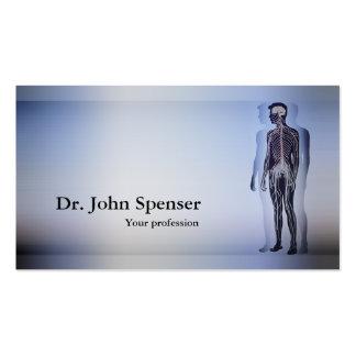 Tarjeta del azul del cuerpo humano del tarjetas de visita