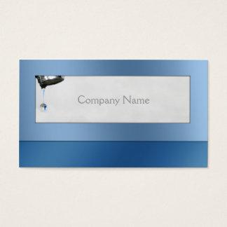 Tarjeta del azul del servicio del fontanero del