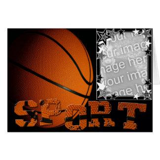 Tarjeta del baloncesto