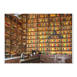 Tarjeta del bar de vinos anuncios personalizados