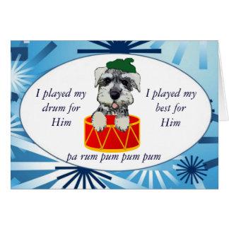 Tarjeta del batería del perrito del navidad