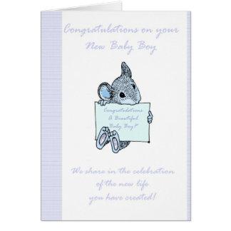 Tarjeta del bebé de la enhorabuena, nuevo bebé