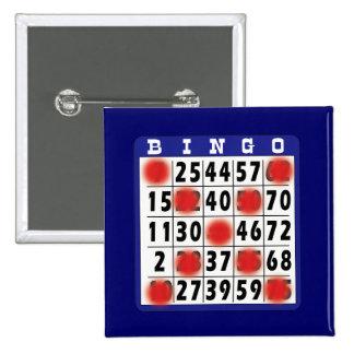 Tarjeta del bingo - botón