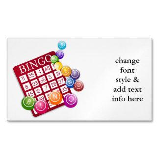 Tarjeta del BINGO con las bolas del BINGO Tarjetas De Visita Magnéticas (paquete De 25)