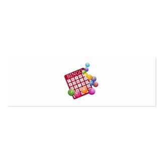 Tarjeta del BINGO con las bolas del BINGO Tarjetas De Visita Mini