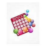 Tarjeta del BINGO con los pasadores del bingo Folleto 21,6 X 28 Cm