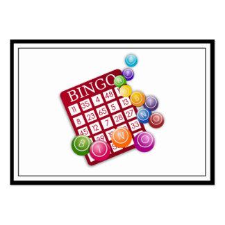 Tarjeta del BINGO con los pasadores del bingo Tarjetas De Visita Grandes