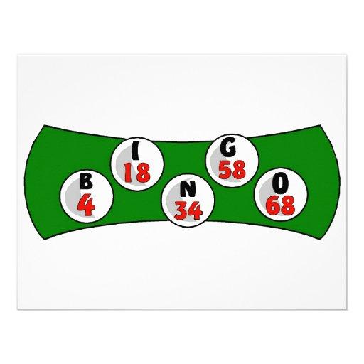 Tarjeta del bingo comunicado personalizado