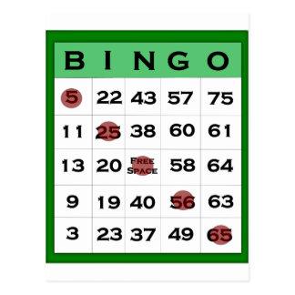 tarjeta del bingo postal