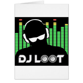 Tarjeta del botín de DJ