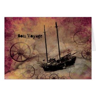 Tarjeta del buen viaje del viajero de la nave de