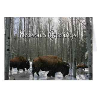 Tarjeta del búfalo de los saludos de la estación